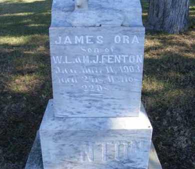 FENTON, JAMES ORA - Frontier County, Nebraska | JAMES ORA FENTON - Nebraska Gravestone Photos