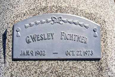 FICHTNER, G. WESLEY - Frontier County, Nebraska | G. WESLEY FICHTNER - Nebraska Gravestone Photos