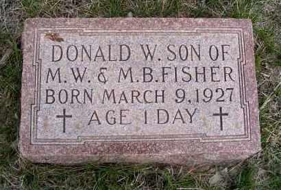 FISHER, DONALD W. - Frontier County, Nebraska | DONALD W. FISHER - Nebraska Gravestone Photos