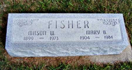 FISHER, MARY B. - Frontier County, Nebraska | MARY B. FISHER - Nebraska Gravestone Photos
