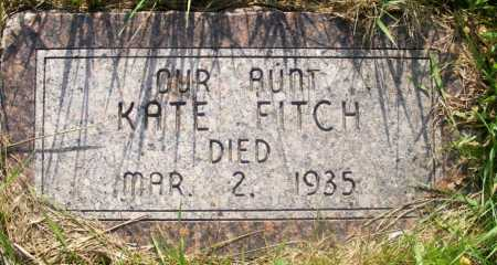 HIESTAND FITCH, KATE - Frontier County, Nebraska | KATE HIESTAND FITCH - Nebraska Gravestone Photos