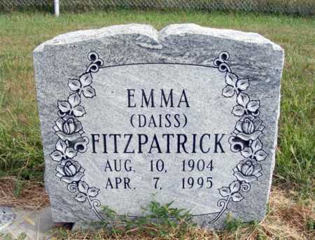 DAISS FITZPATRICK, EMMA - Frontier County, Nebraska | EMMA DAISS FITZPATRICK - Nebraska Gravestone Photos
