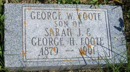 FOOTE, GEORGE W. - Frontier County, Nebraska | GEORGE W. FOOTE - Nebraska Gravestone Photos