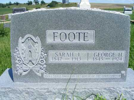 FOOTE, GEORGE H. - Frontier County, Nebraska   GEORGE H. FOOTE - Nebraska Gravestone Photos