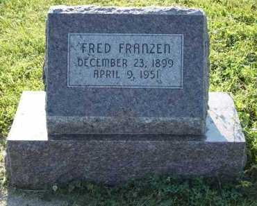 FRANZEN, FRED - Frontier County, Nebraska   FRED FRANZEN - Nebraska Gravestone Photos