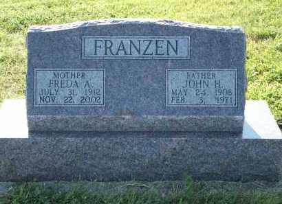 FRANZEN, JOHN H. - Frontier County, Nebraska   JOHN H. FRANZEN - Nebraska Gravestone Photos