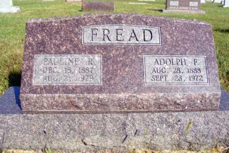FREAD, ADOLPH F. - Frontier County, Nebraska | ADOLPH F. FREAD - Nebraska Gravestone Photos