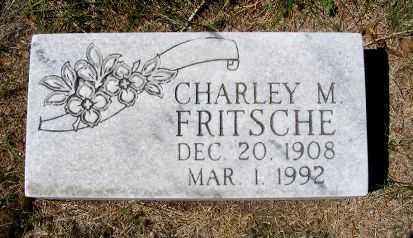 FRITSCHE, CHARLEY M. - Frontier County, Nebraska | CHARLEY M. FRITSCHE - Nebraska Gravestone Photos