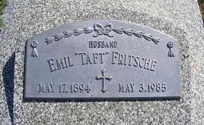 "FRITSCHE, EMIL ""TAFT"" - Frontier County, Nebraska | EMIL ""TAFT"" FRITSCHE - Nebraska Gravestone Photos"