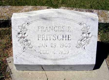 FRITSCHE, FRANCES R. - Frontier County, Nebraska | FRANCES R. FRITSCHE - Nebraska Gravestone Photos