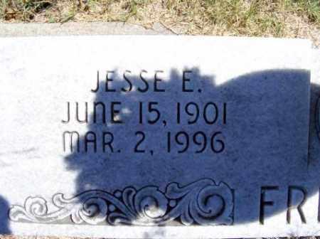 FRITSCHE, JESSE E. - Frontier County, Nebraska   JESSE E. FRITSCHE - Nebraska Gravestone Photos