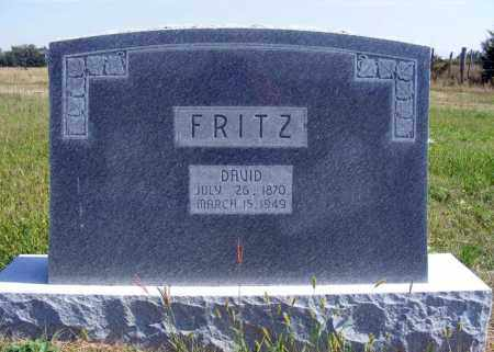 FRITZ, DAVID - Frontier County, Nebraska | DAVID FRITZ - Nebraska Gravestone Photos