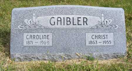GAIBLER, CHRIST - Frontier County, Nebraska   CHRIST GAIBLER - Nebraska Gravestone Photos