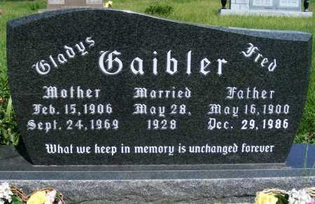 GAIBLER, FRED - Frontier County, Nebraska | FRED GAIBLER - Nebraska Gravestone Photos