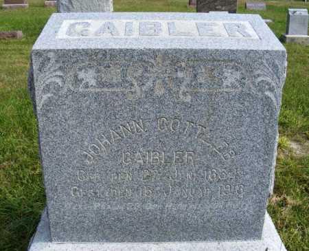 GAIBLER, JOHANN GOTTLIEB - Frontier County, Nebraska | JOHANN GOTTLIEB GAIBLER - Nebraska Gravestone Photos