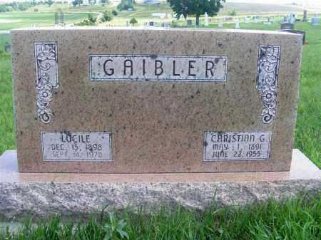 BICK GAIBLER, LUCILE - Frontier County, Nebraska   LUCILE BICK GAIBLER - Nebraska Gravestone Photos