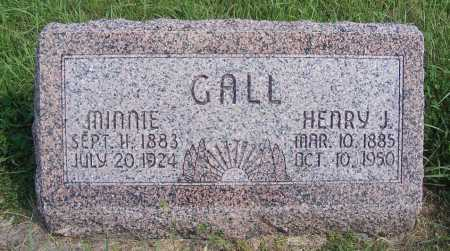 GALL, MINNIE - Frontier County, Nebraska | MINNIE GALL - Nebraska Gravestone Photos