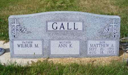 GALL, MATTHEW A. - Frontier County, Nebraska | MATTHEW A. GALL - Nebraska Gravestone Photos