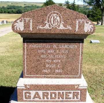 GARDNER, AUGUSTUS W. - Frontier County, Nebraska | AUGUSTUS W. GARDNER - Nebraska Gravestone Photos