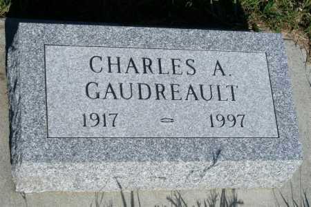 GAUDREAULT, CHARLES A. - Frontier County, Nebraska   CHARLES A. GAUDREAULT - Nebraska Gravestone Photos