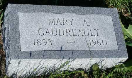 GAUDREAULT, MARY A. - Frontier County, Nebraska | MARY A. GAUDREAULT - Nebraska Gravestone Photos