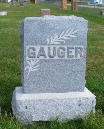 GAUGER, FAMILY - Frontier County, Nebraska | FAMILY GAUGER - Nebraska Gravestone Photos