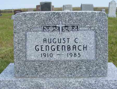 GENGENBACH, AUGUST C. - Frontier County, Nebraska | AUGUST C. GENGENBACH - Nebraska Gravestone Photos