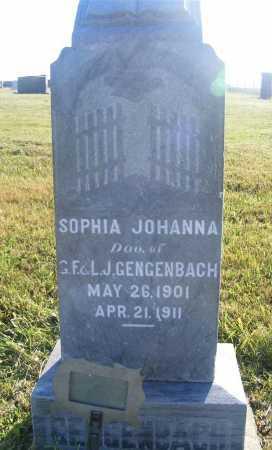GENGENBACH, SOPHIA JOHANNA - Frontier County, Nebraska | SOPHIA JOHANNA GENGENBACH - Nebraska Gravestone Photos
