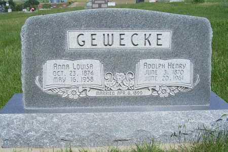 GEWECKE, ANNA LOUISA - Frontier County, Nebraska | ANNA LOUISA GEWECKE - Nebraska Gravestone Photos
