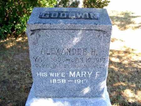 GOODWIN, MARY F. - Frontier County, Nebraska   MARY F. GOODWIN - Nebraska Gravestone Photos