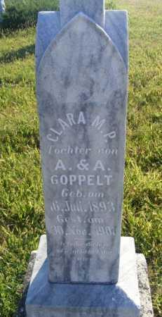 GOPPELT, CLARA M.P. - Frontier County, Nebraska | CLARA M.P. GOPPELT - Nebraska Gravestone Photos