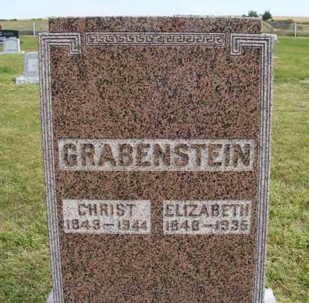GRABENSTEIN, ELIZABETH - Frontier County, Nebraska | ELIZABETH GRABENSTEIN - Nebraska Gravestone Photos