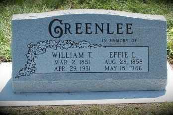 GREENLEE, EFFIE L. - Frontier County, Nebraska   EFFIE L. GREENLEE - Nebraska Gravestone Photos