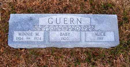 GUERN, ALICE - Frontier County, Nebraska   ALICE GUERN - Nebraska Gravestone Photos