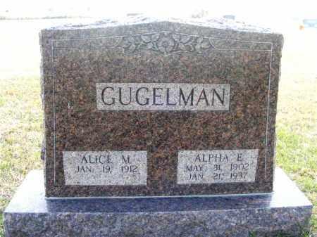 GUGELMAN, ALPHA E. - Frontier County, Nebraska   ALPHA E. GUGELMAN - Nebraska Gravestone Photos