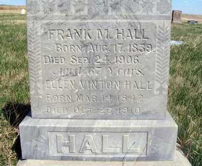 HALL, FRANK M. - Frontier County, Nebraska | FRANK M. HALL - Nebraska Gravestone Photos