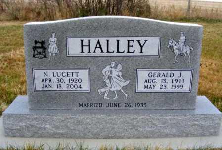 HALLEY, NELLIE LUCETT - Frontier County, Nebraska | NELLIE LUCETT HALLEY - Nebraska Gravestone Photos