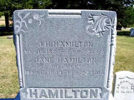 HAMILTON, JANE - Frontier County, Nebraska | JANE HAMILTON - Nebraska Gravestone Photos