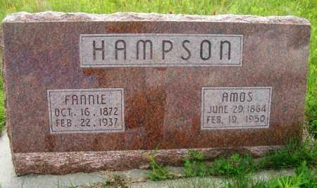 HAMPSON, AMOS - Frontier County, Nebraska | AMOS HAMPSON - Nebraska Gravestone Photos