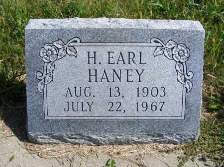 HANEY, H. EARL - Frontier County, Nebraska   H. EARL HANEY - Nebraska Gravestone Photos