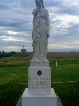 HANN, PHEBA AINLAY - Frontier County, Nebraska | PHEBA AINLAY HANN - Nebraska Gravestone Photos