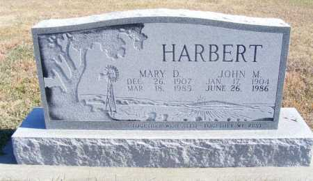 HARBERT, MARY D. - Frontier County, Nebraska | MARY D. HARBERT - Nebraska Gravestone Photos