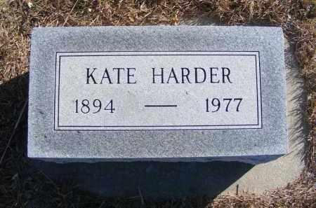 HARDER, KATE - Frontier County, Nebraska   KATE HARDER - Nebraska Gravestone Photos