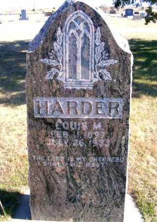 HARDER, LOUIS M. - Frontier County, Nebraska | LOUIS M. HARDER - Nebraska Gravestone Photos