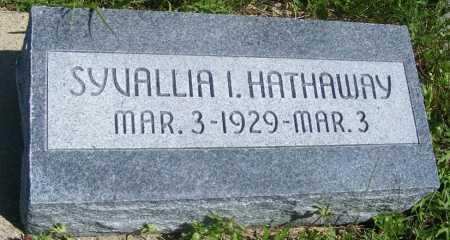 HATHAWAY, SYVALLIA I. - Frontier County, Nebraska | SYVALLIA I. HATHAWAY - Nebraska Gravestone Photos