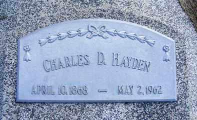 HAYDEN, CHARLES D. - Frontier County, Nebraska   CHARLES D. HAYDEN - Nebraska Gravestone Photos