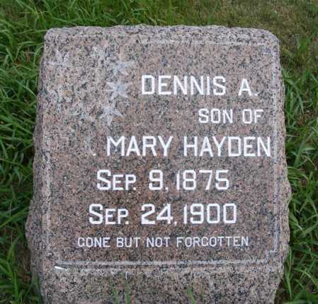 HAYDEN, DENNIS A. - Frontier County, Nebraska   DENNIS A. HAYDEN - Nebraska Gravestone Photos