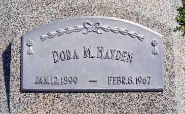 RUSSELL HAYDEN, DORA M. - Frontier County, Nebraska | DORA M. RUSSELL HAYDEN - Nebraska Gravestone Photos