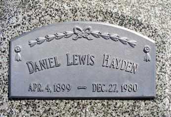 HAYDEN, DANIEL LEWIS - Frontier County, Nebraska   DANIEL LEWIS HAYDEN - Nebraska Gravestone Photos