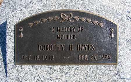 HAYES, DOROTHY H. - Frontier County, Nebraska | DOROTHY H. HAYES - Nebraska Gravestone Photos